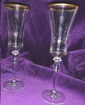 Rental store for Champagne Flute Gold Rim in  North Carolina