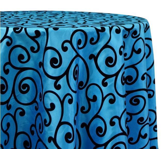 Rent Linen - Swirl Flocking Taffata